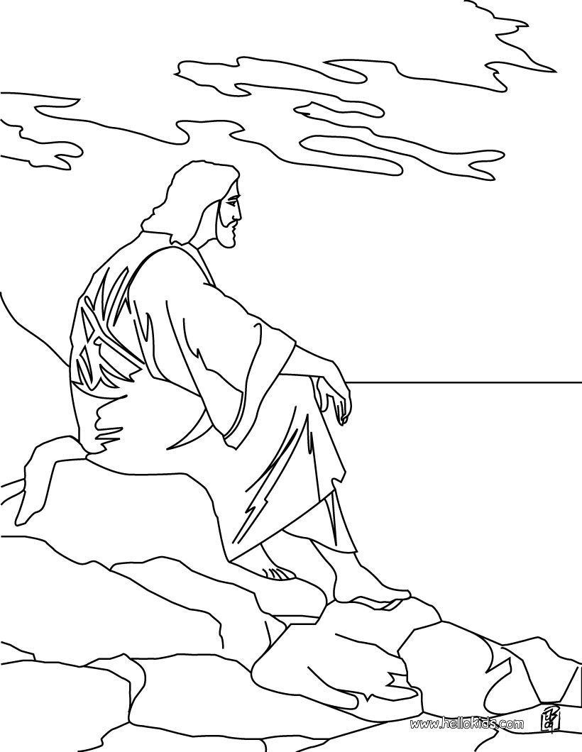 Jesus Christ coloring page | Ideas for preschool religion lessons ...