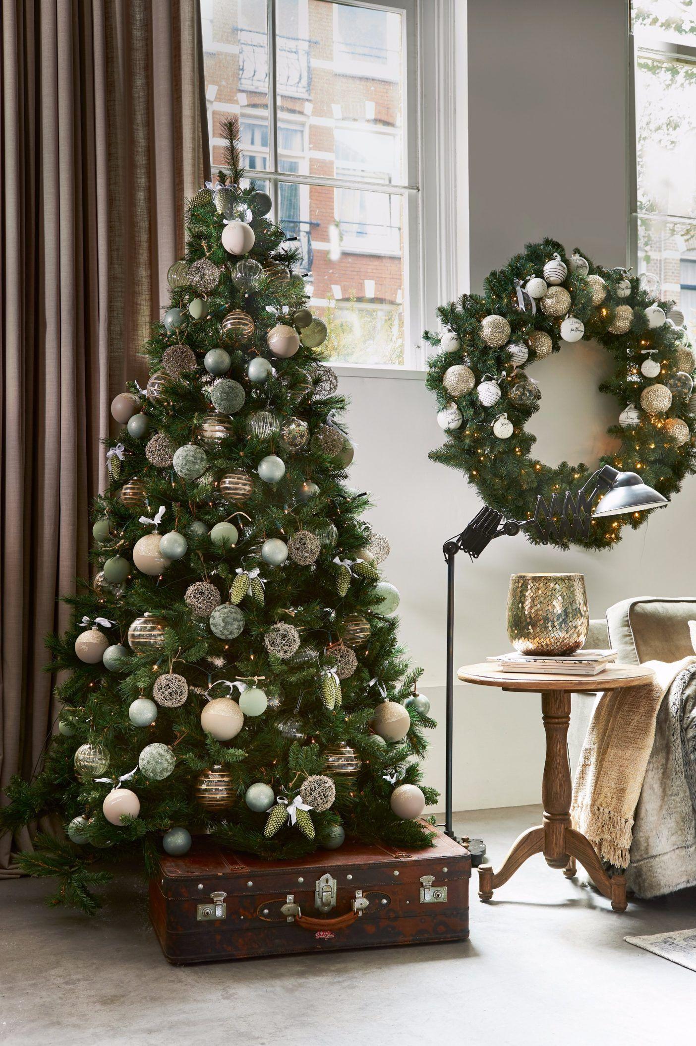 Riviera Maison Landelijke Luxe Kerstcollectie Kerst Landelijke Kerstbomen Versierde Kerstbomen