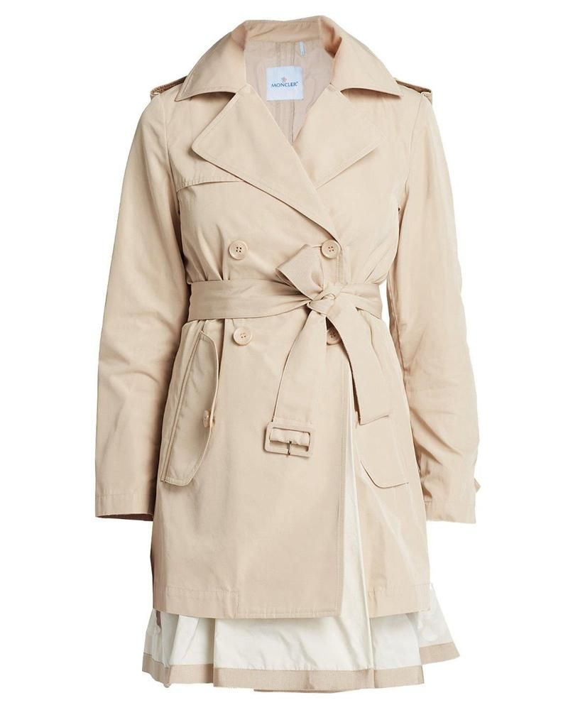 moncler belted trench coat