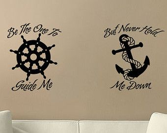 Home Decor Helm And Anchor Wall Vinyl Decal