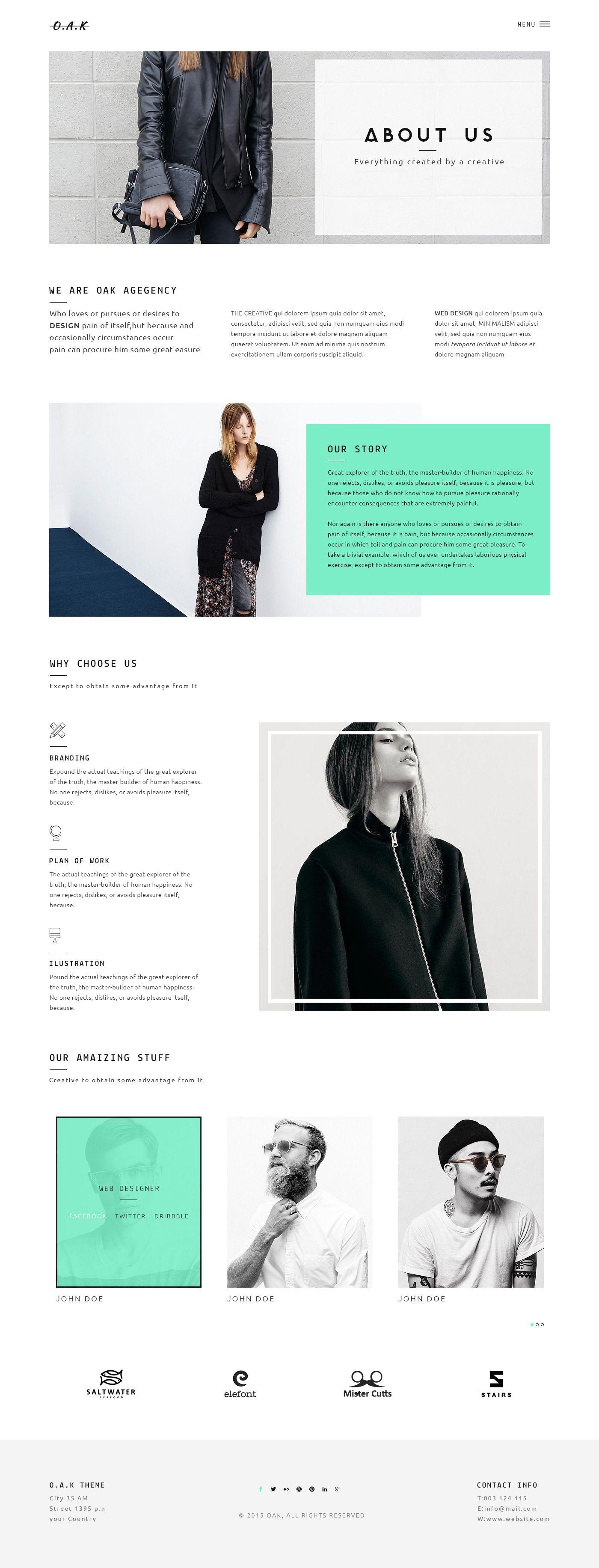 OAK - Creative Multi-Purpose PSD Template | ThemeForest