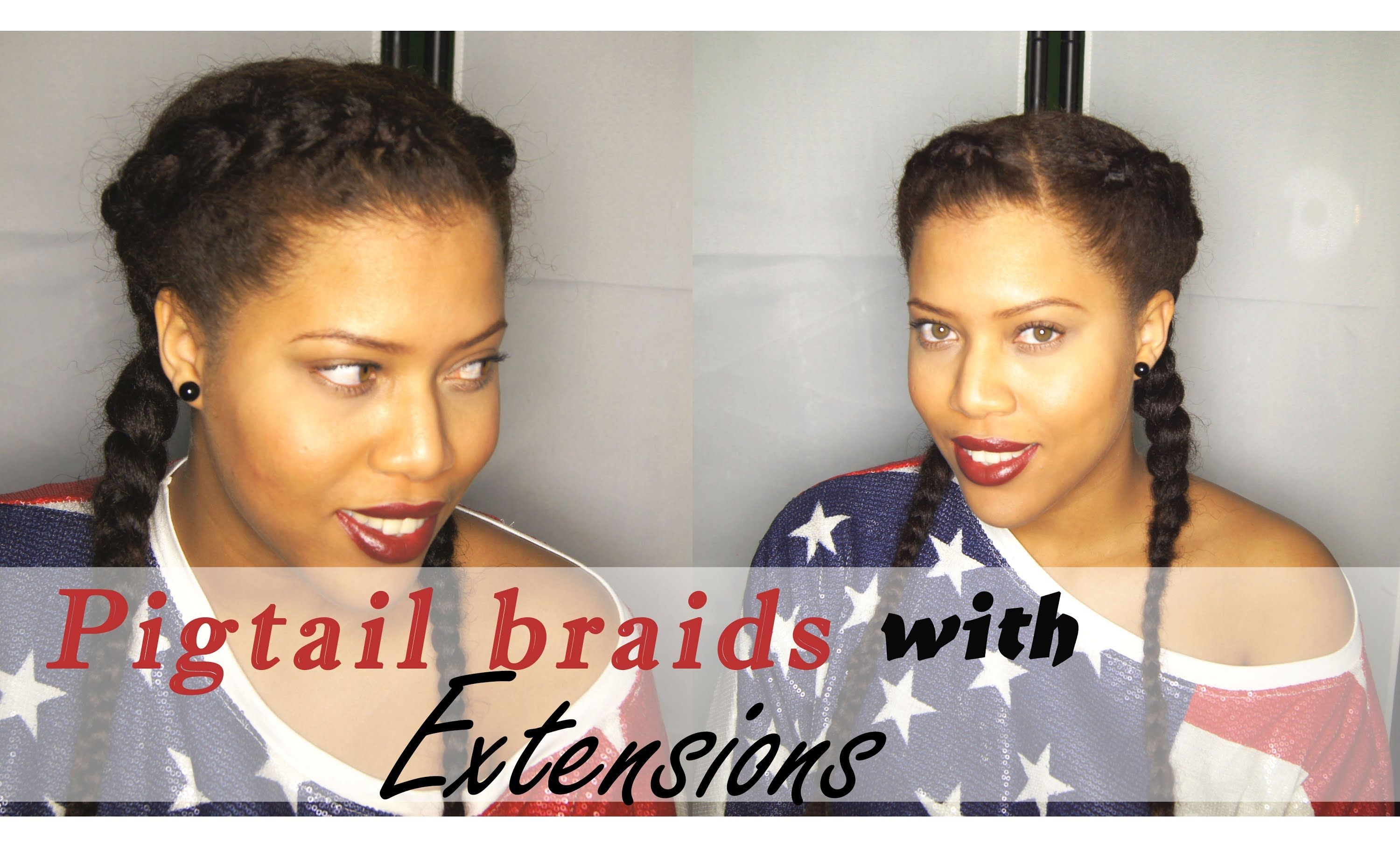 Protective Hairstyles Dutch Braids: Pigtail Braids With Extensions