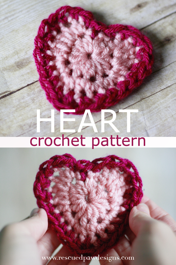 Valentines Day Heart Crochet Pattern Rescued Paw Designs
