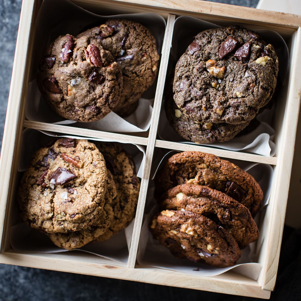 Gluten Free Chocolate Chip Cookies Four Ways Oat Teff Buckwheat