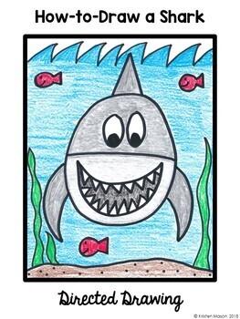Directed Drawings 3 Summer Animals Sea Turtle, Shark