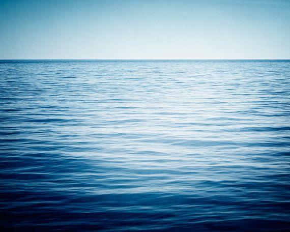 Ocean Photography - water dark blue sea photo seascape horizon ...
