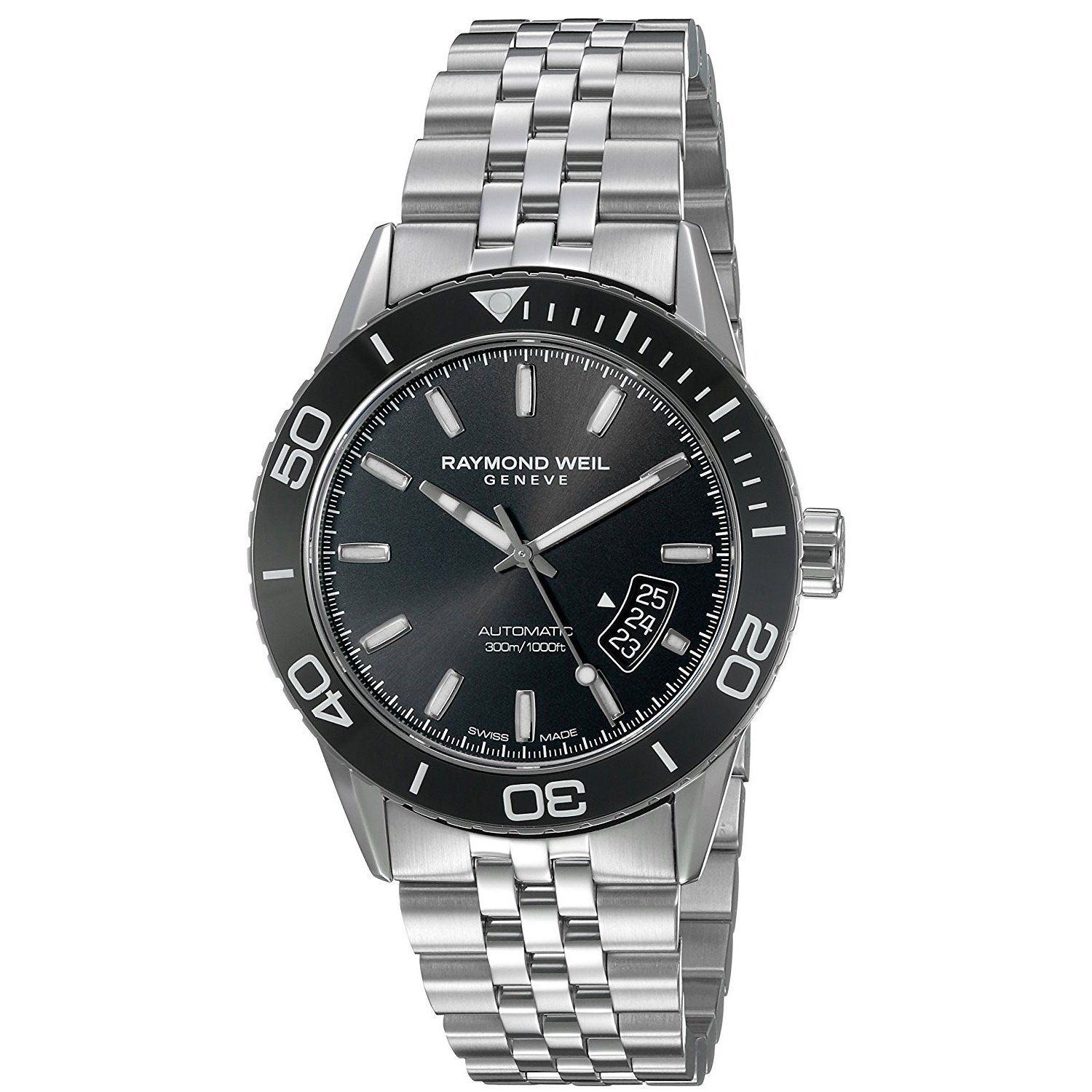 3bb6a9675 Raymond Weil Men's 2760-ST1-20001 Freelancer Automatic Stainless Steel Watch