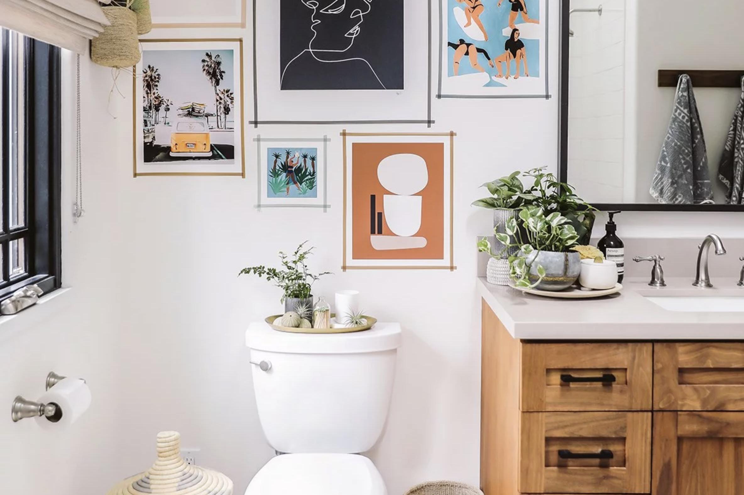 7 Manieren Om Van Het Toilet Een Eyecatcher Te Maken Kleine Woonkamer Inrichting Badkamerdecoratie Badkamer Wanden