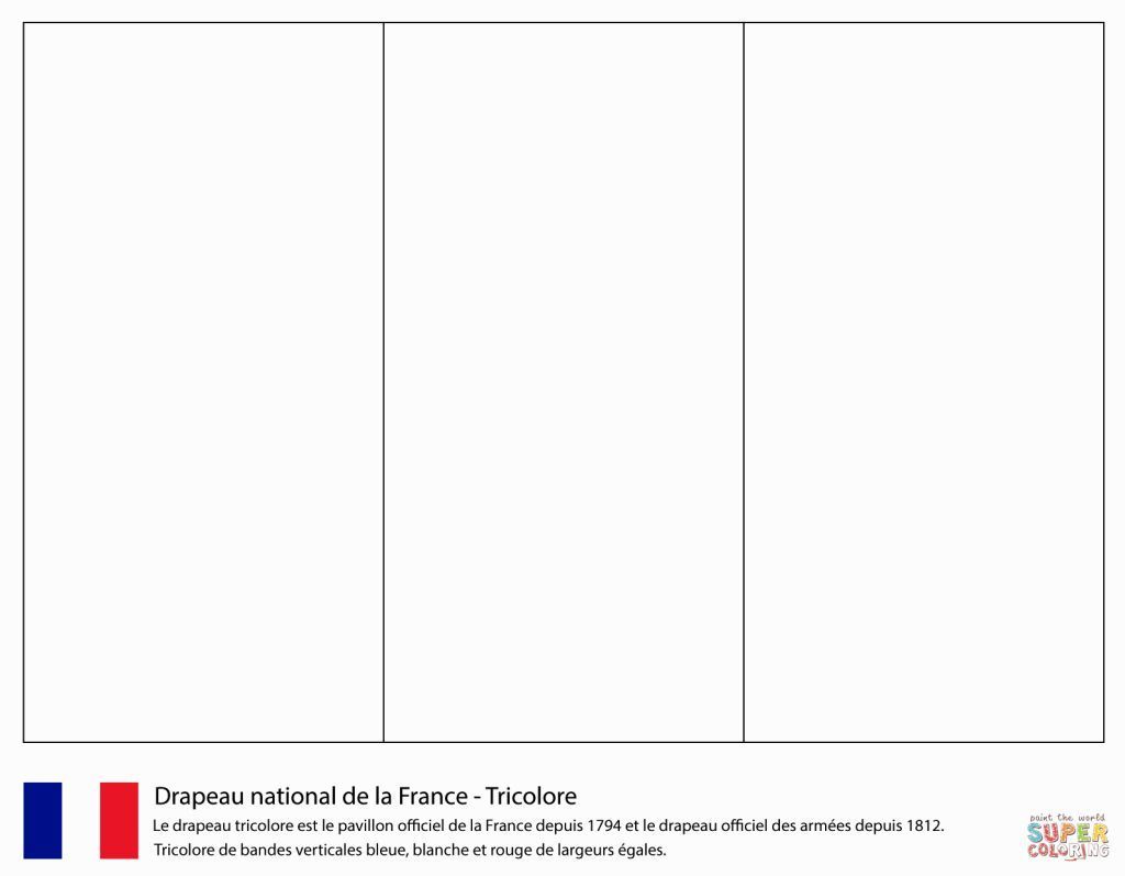 France flag coloring page