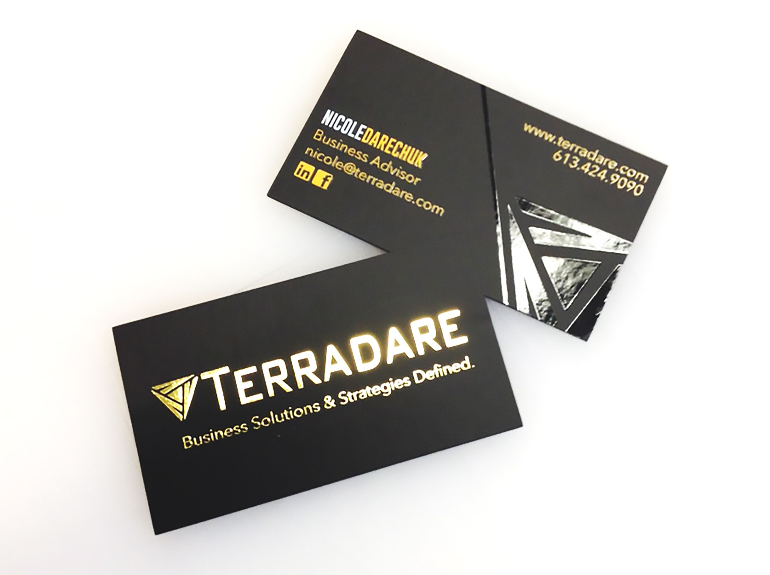 These awesome looking business cards for nicole darechuk with these awesome looking business cards for nicole darechuk with terradare designed in house by reheart Choice Image