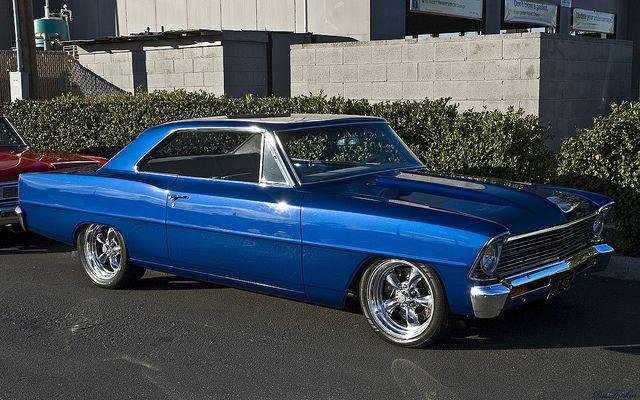1967 Chevrolet Chevy Ii Nova Blue Metallic Fvr Chevy Muscle