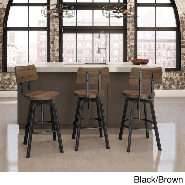 Amazing Amisco Woodland Screw Metal And Wood Stool Kitchen Bar Gmtry Best Dining Table And Chair Ideas Images Gmtryco