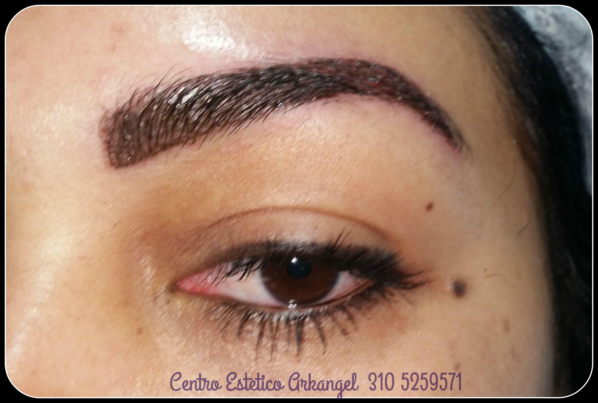 af33b4d93 cejas pelo a pelo efecto sombreado | Cejas pelo a pelo | Human eye y ...