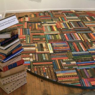 Book rug by Pamela Paulsrud