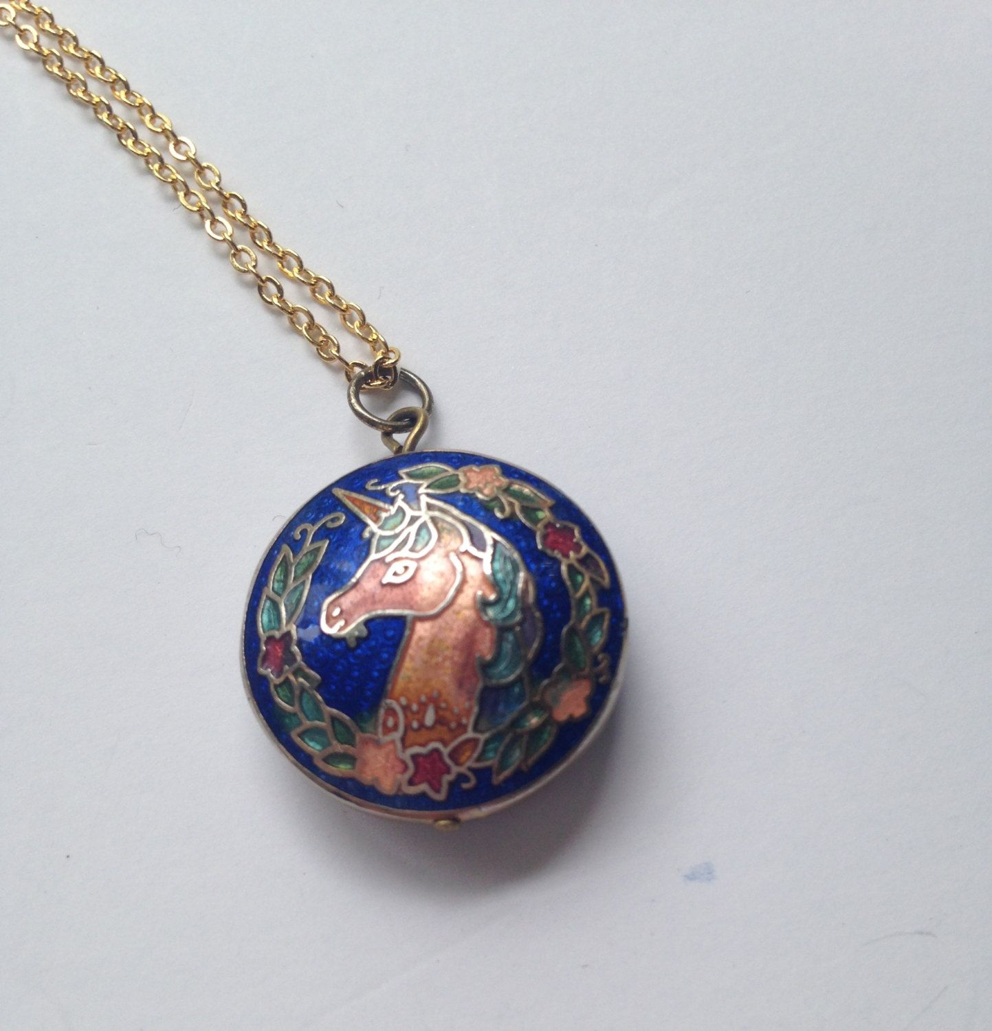 gold large context the unicorn silver beaverbrooks p rose plated pendant