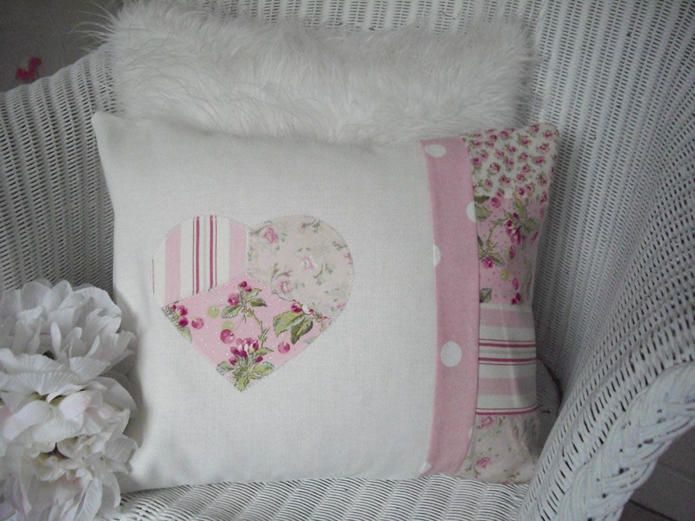 image detail for home shabby chic shabby chic cushion pink fabric patchwork pillows. Black Bedroom Furniture Sets. Home Design Ideas