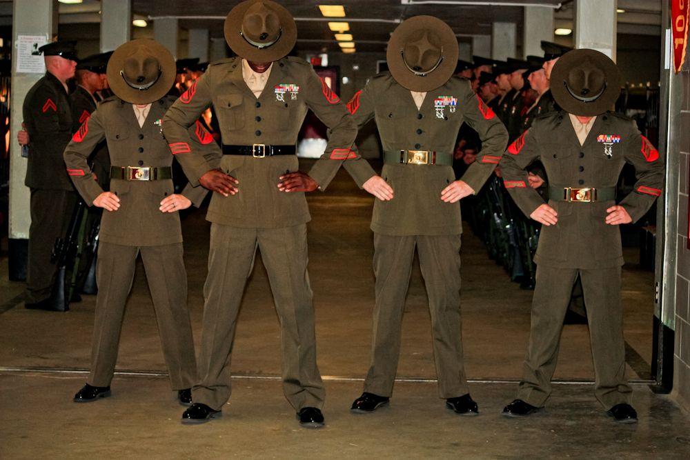 U.S. Marine Corps Drill Instructor Sgt. Subrina Dickerson