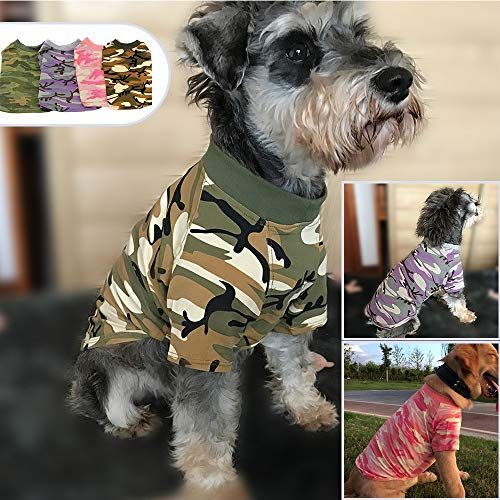 88b9be42f41b PDJW Dog Clothes Puppy CamouflageT-Shirt Washed Clothes Waterproof Silk  Cotton Warm Dog Clothes Suitable
