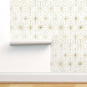 Ivy Bronx Lofton Geometric Removable Peel And Stick Wallpaper Panel Wayfair Peel And Stick Wallpaper Wallpaper Panels Removable Wallpaper