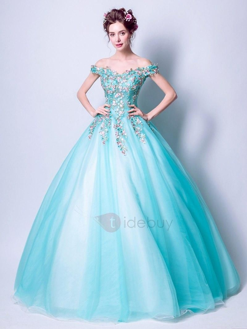 7acb62bfae6  Spring  AdoreWe  TideBuy -  TideBuy Gorgeous Embroidery Ball Gown  Off-the-Shoulder Floor-Length Quinceanera Dress - AdoreWe.com