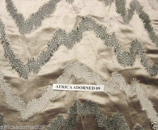 Donghia Chic Elegant Woven Embroidered Home Decor Fabric 5 Yard