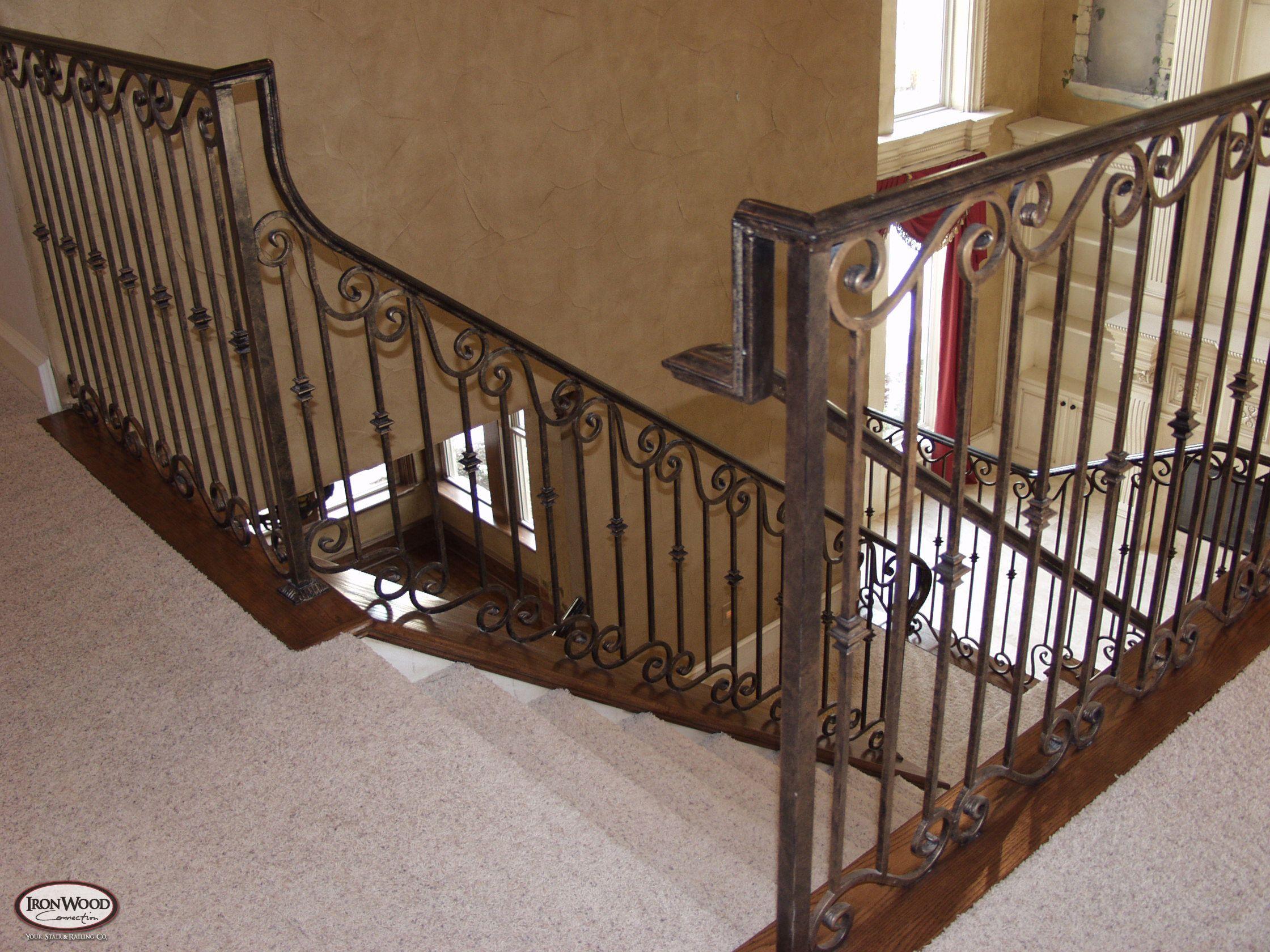 Iron Stair Railings Interior | Custom Iron Stairway Custom Iron Curved  Stairway Custom Outdoor Spiral