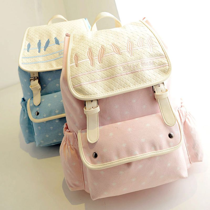 fea9d6a4e92f Cute college wind stray birds travel backpack · Cute Kawaii {harajuku  fashion  · Online Store Powered by Storenvy