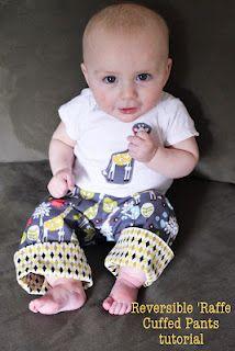 Reversible Long-Lived Cuff Pants http://seweasybeinggreen.blogspot.com/2012/05/boys-reversible-cuff-pants.html