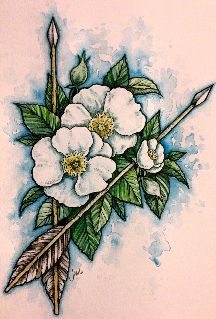 cherokee rose Google Search Native american tattoos