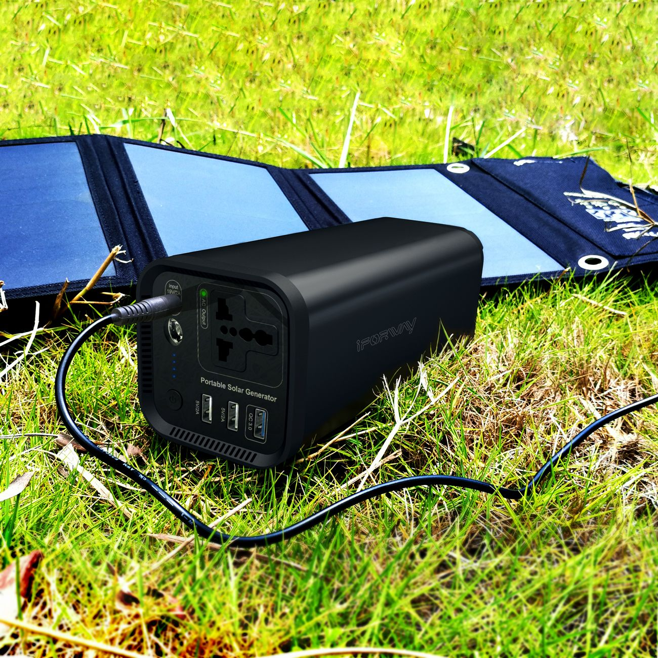 1 Pure Sine Wave Inverter 2 Charged By Adapter Car Solar Panel Full Energy All Day 3 Pow Portable Solar Power Solar Powered Generator Solar Power Station