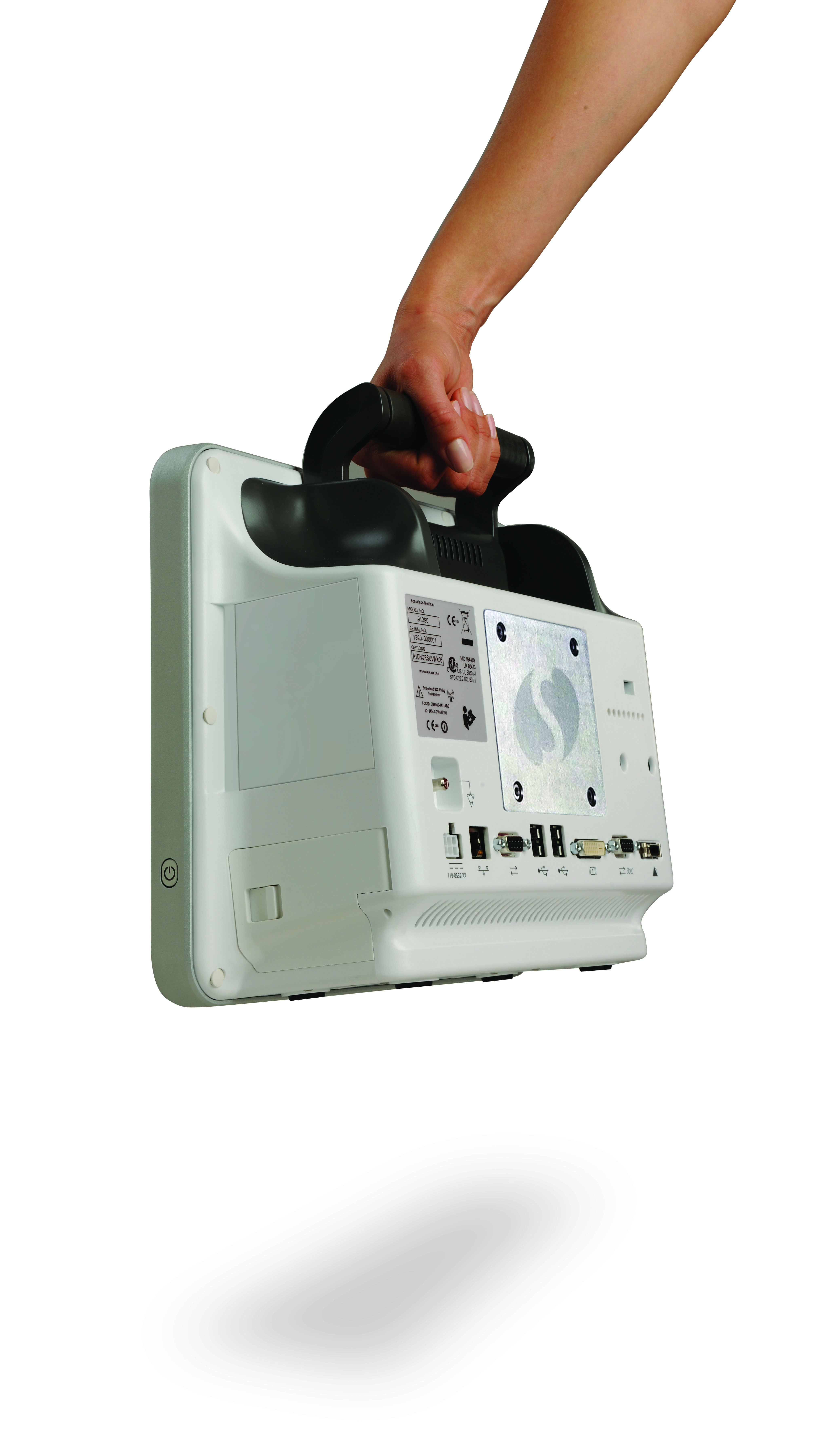 qube patient monitor, carry handle