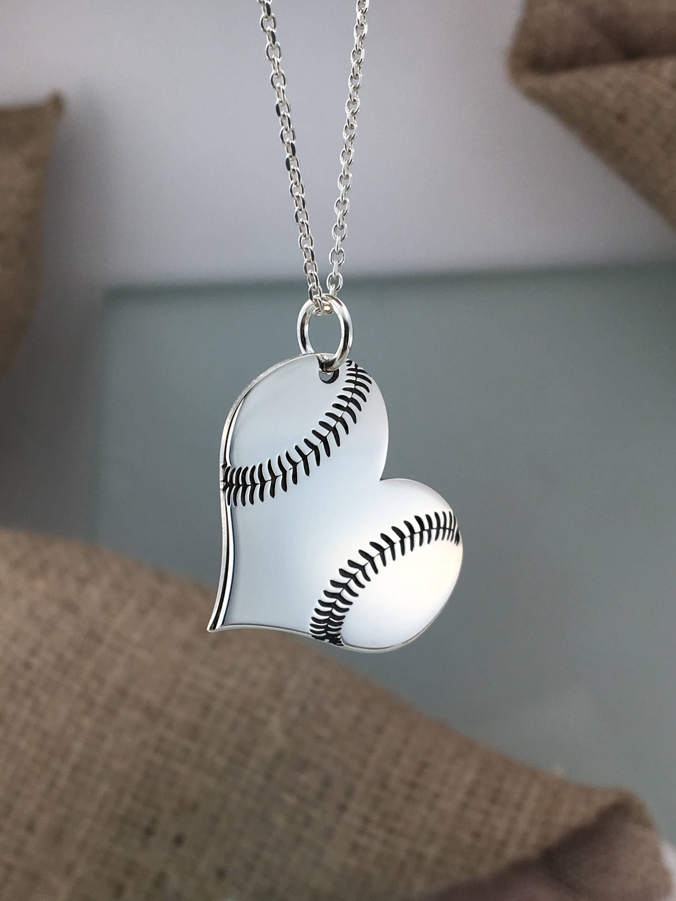 925 Sterling Silver BASEBALL Charm and Pendant
