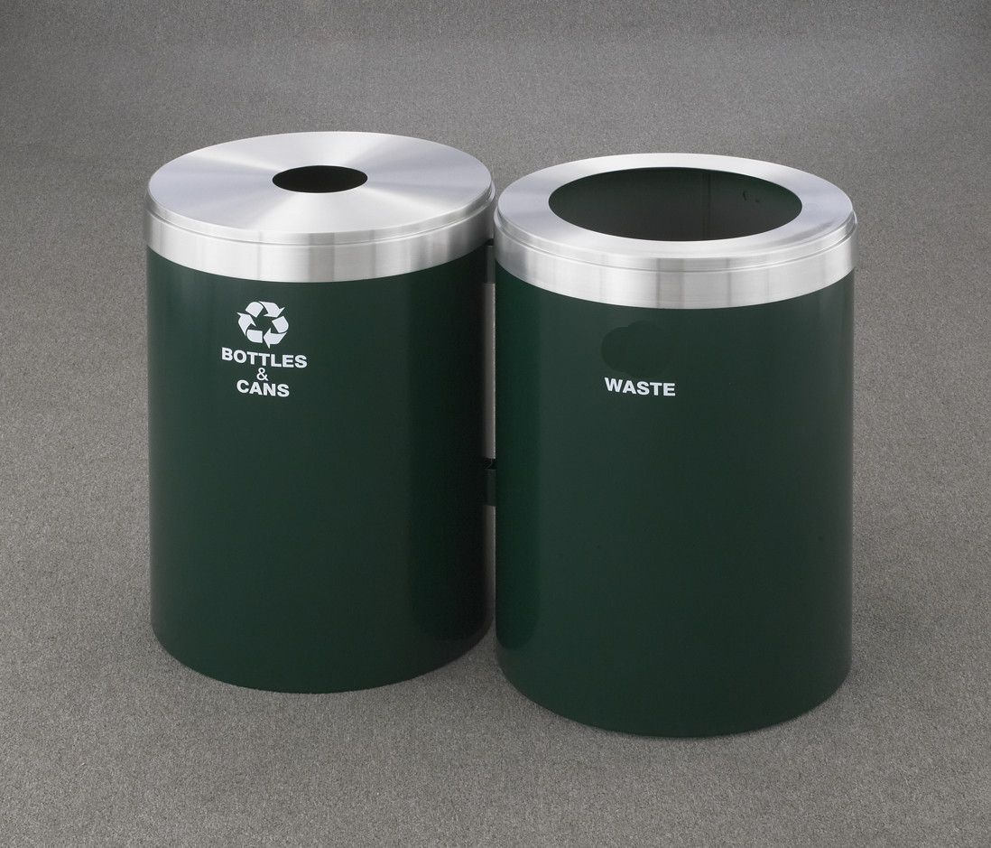 Recyclepro Value Series 82 Gal Dual Unit Multi Compartment Recycling Bin Kitchen Trash Cans Trash Can Recycling Bins