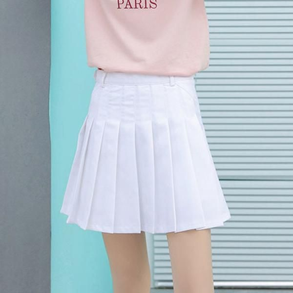c59c31fd943 New Women Summer Skirts Fashion Harajuku Mini Skirts High Waist Pleated  Preppy Style Office Ladies Skirts