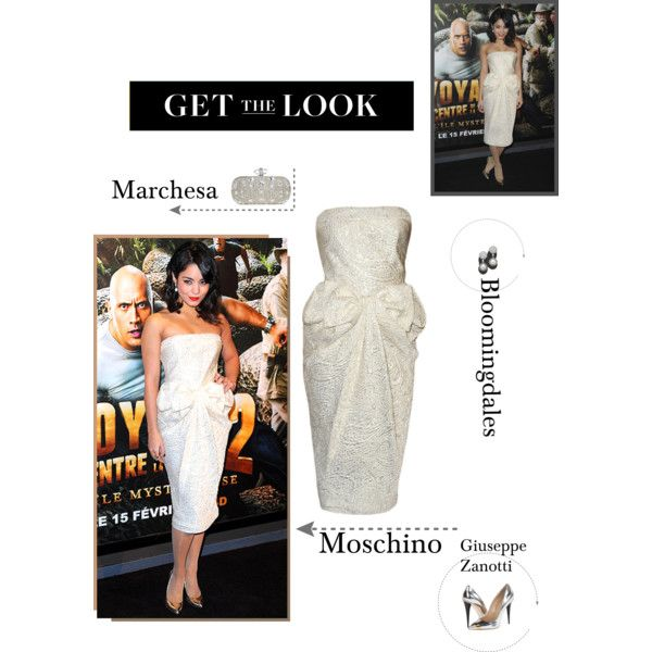 Get the Look of Vanessa Hudgens by fashionqueen76 on Polyvore featuring Giuseppe Zanotti, Marchesa, Bloomingdale's, Moschino, GiuseppeZanotti, marchesa, VanessaHudgens and Bloomingdales