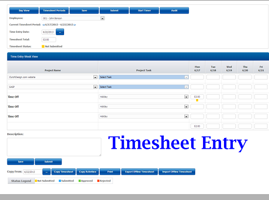 get free online timesheet time tracking project management