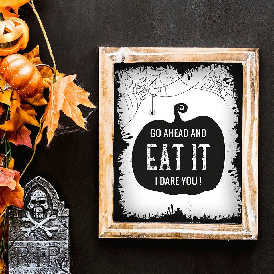 Halloween Printable Poster Design Halloween Wall Art Sign