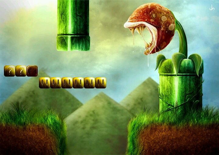 Epic Mushroom Kingdom Wallpaper Mario Art Super Mario Brothers