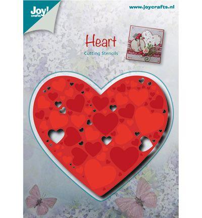 Joy!Crafts mallen 6002/0481 Hart met Hartjes