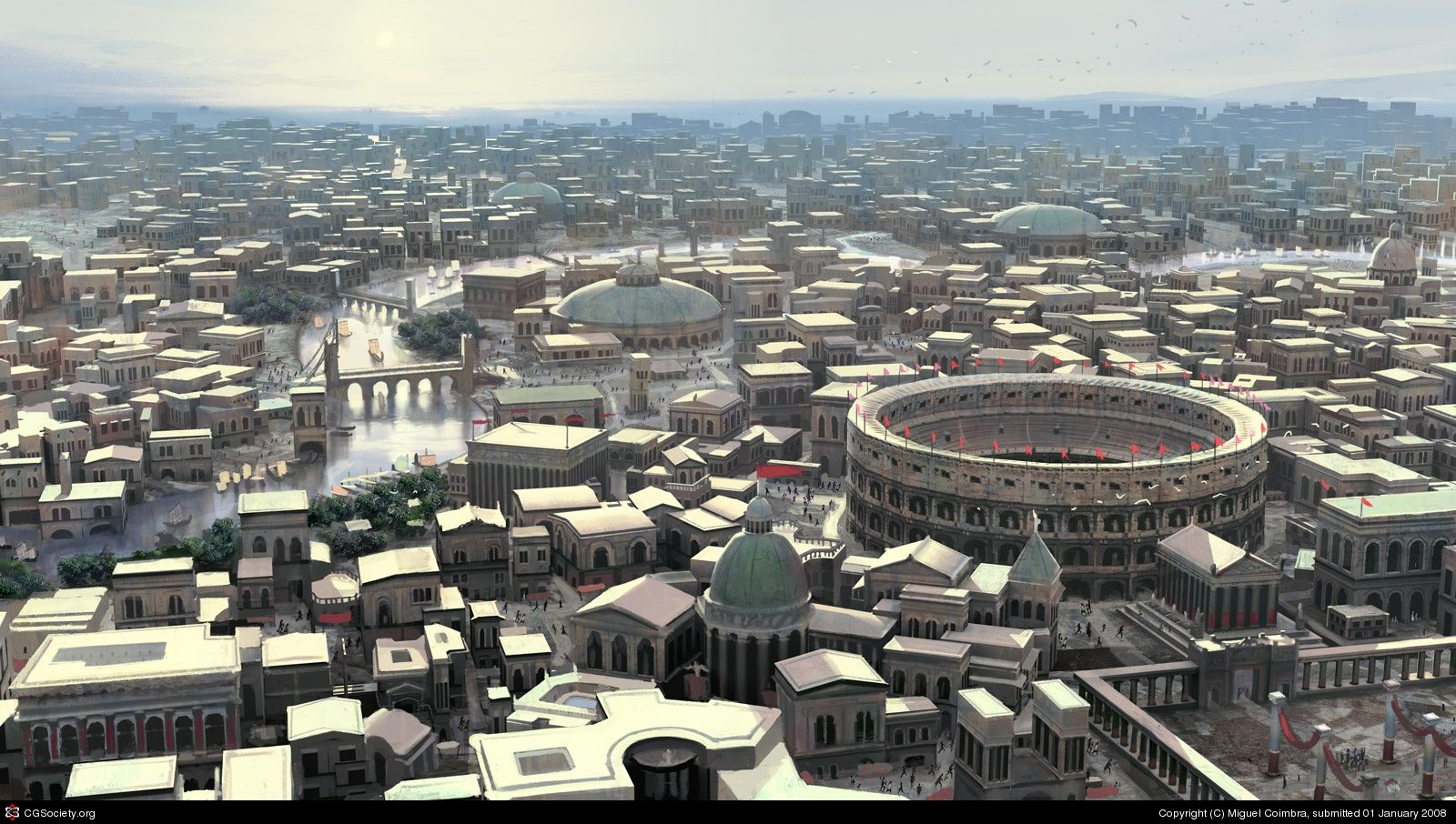 Image result for ancient rome bird's eye view