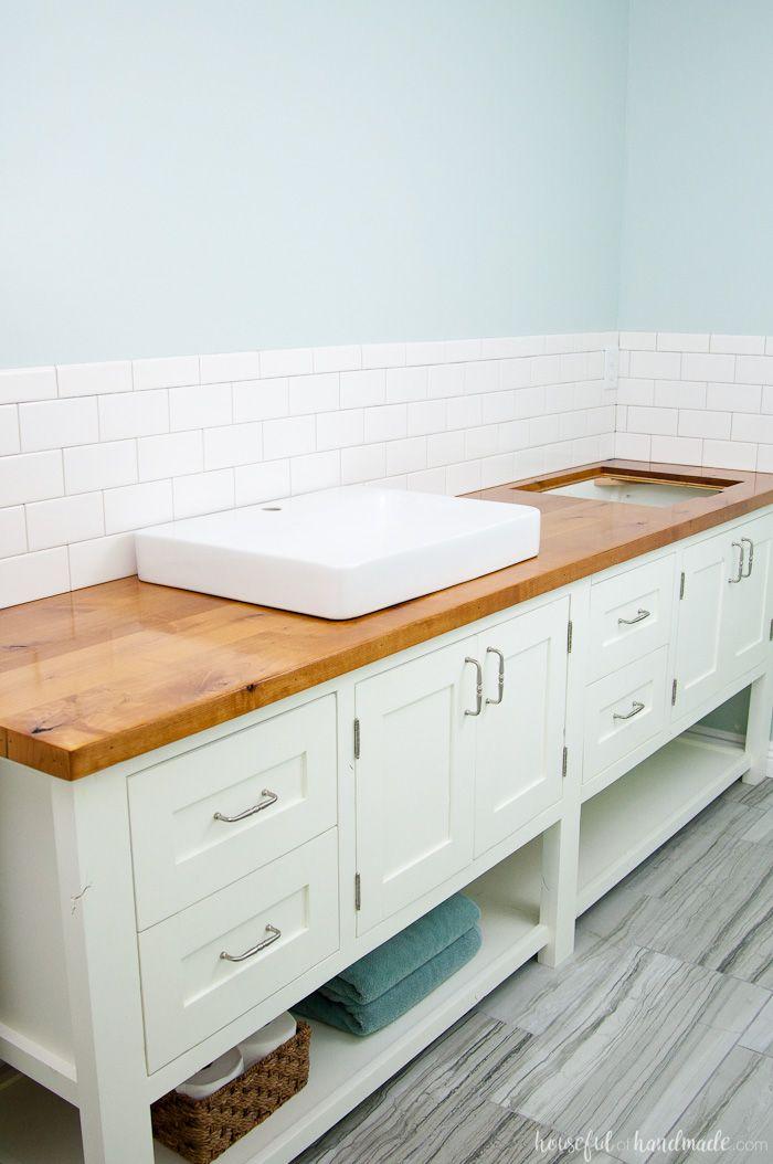 How To Build Protect A Wood Vanity Top Wood Vanity Bathroom