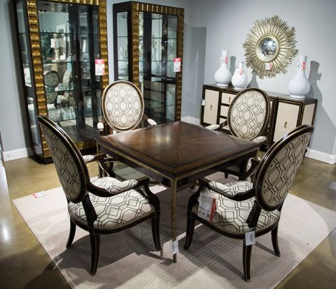 Image of Rue Royale Game Table with Four Chairs