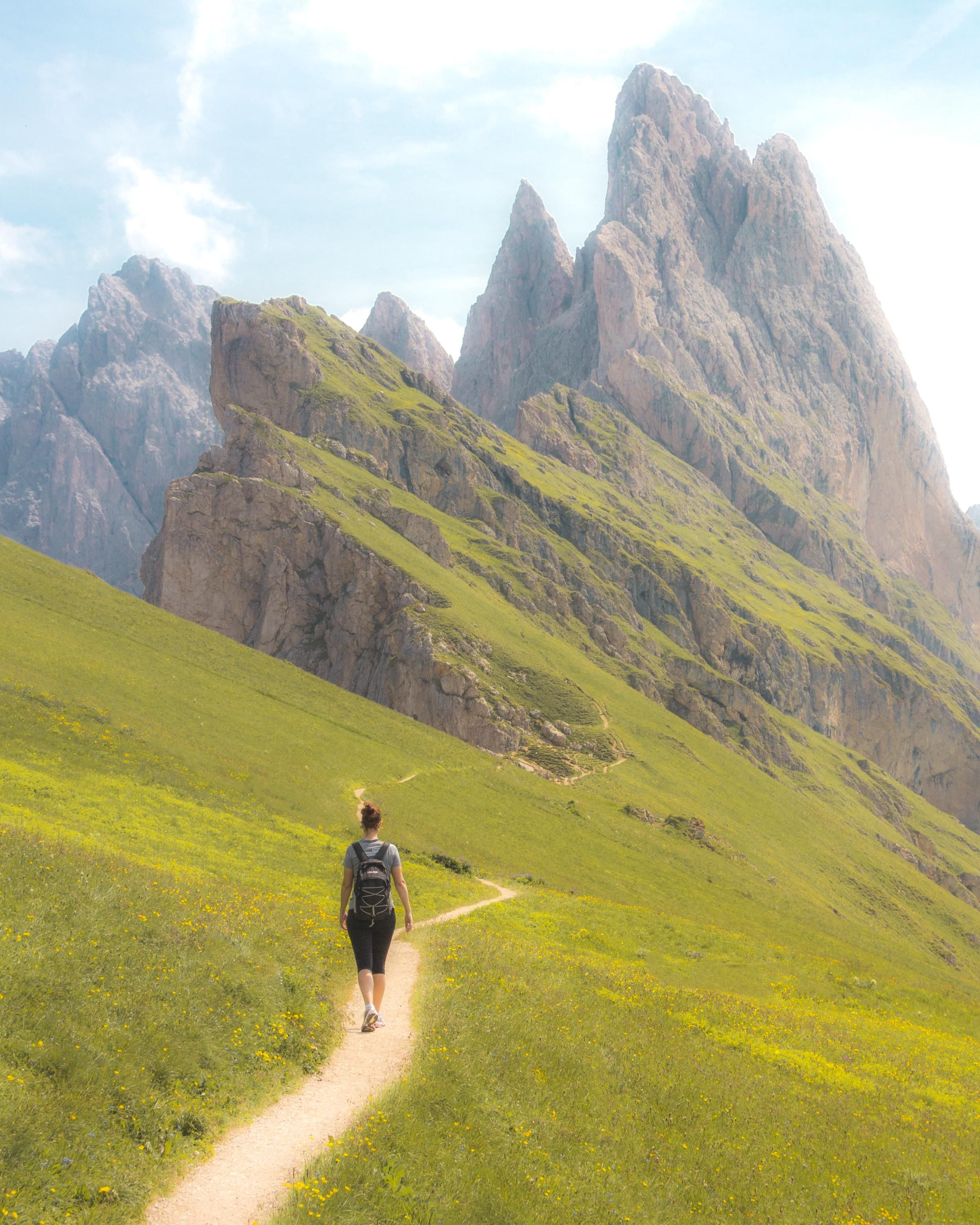 ITAP of my sister hiking in the Dolomites in Northern Italy by XenonHawk . . . . #photos #amazingworld #world #amazingphotography #amateurphotography #photography #incrediblephotos