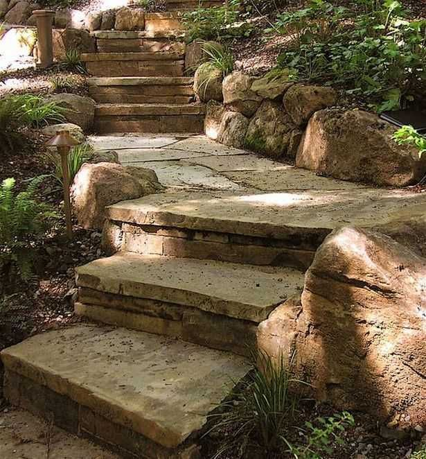 21 Landscaping Ideas For Slopes: Garden Steps On A Slope Ideas_47