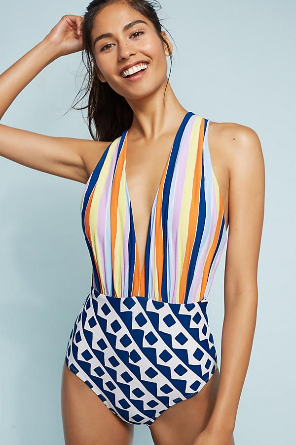 e4eb44b913fd4 Plunge One-Piece Swimsuit | Cancun | Plunging one piece swimsuit ...
