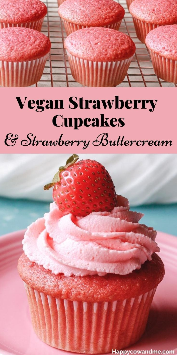 Photo of Vegan Strawberry Cupcakes with Strawberry Buttercream