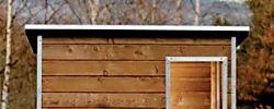 El tamaño y el uso propio para cada caseta de madera