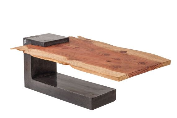 Concrete mammoth wood coffee table