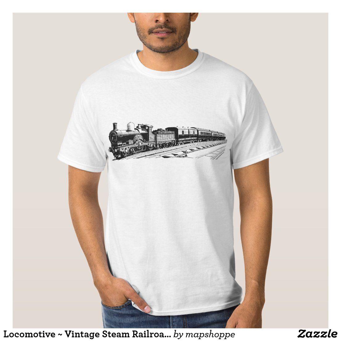 Train BR rail railway steam loco models t shirt