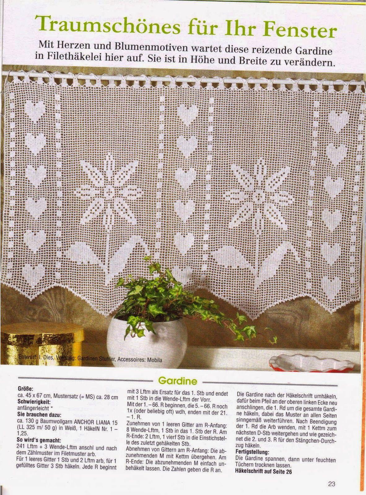 Hobby lavori femminili - ricamo - uncinetto - maglia: tende filet ...